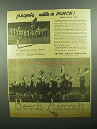 1943 Beech Aircraft Ad - Reserve Guard, Guardettes