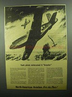 1943 North American A-36 Fighter-Bomber Plane Ad