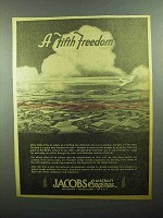 1943 Jacobs Aircraft Engines Ad - A Fifth Freedom