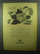 1943 Lejon Brandy Ad - Information Wanted