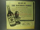 1943 Old Grand-Dad Bourbon Ad - Head of the Family