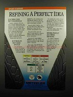 1990 Metzeler ME99A and ME55A Tires Ad - Perfect Idea