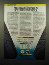 1990 Metzeler ME88 Marathon Tires Ad - Feel Difference