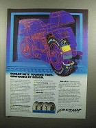 1990 Dunlop K-491 Elite G/T Touring Tires Ad
