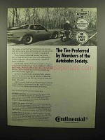 1990 Continental Motorcycle Tire Ad - Conti-TKV
