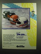 1990 Griffin RZ Helmet Ad - All Options Are Standard