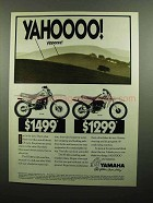 1990 Yamaha RT180 and RT100 Motorcycle Ad
