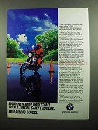 1990 BMW Motorcycle Ad - Special Safety Feature
