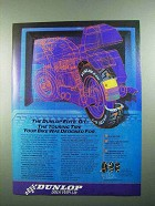 1989 Dunlop Elite G/T Tire Ad - Your Bike Designed For