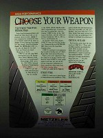 1989 Metzeler Comp K Tires Ad - Choose Your Weapon