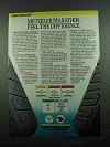 1989 Metzeler Tires Ad - Marathon Feel The Difference