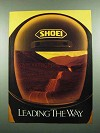 1989 Shoei Motorcycle Helmet Ad - Leading the Way