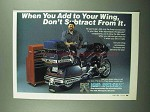 1989 Drag Specialties Wingleader Components Ad