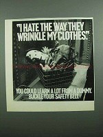 1989 Crash Test Dummies Ad - Hate the Way they Wrinkle