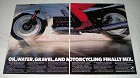 1989 BMW Motorcyle Ad - Oil, Water, Gravel Finally Mix