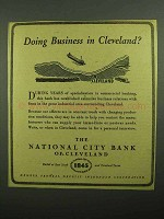 1943 National City Bank of Cleveland Ad - Business?