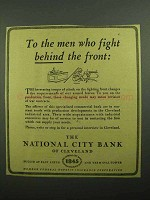 1943 National City Bank of Cleveland Ad - Men Who Fight