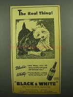 1943 Black & White Scotch Ad - The Real Thing