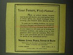 1943 Merrill Lynch Ad - Your Future, Wisely Planned