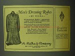 1943 A. Sulka Imported Flannel Dressing Robe Ad