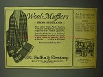 1943 A. Sulka Neck Scarves Ad - Wool Mufflers