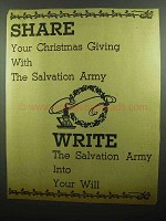 1942 Salvation Army Ad - Share Your Christmas Giving