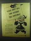 1942 Bell Telephone Ad - Don't Call This Christmas