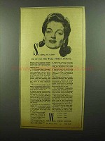 1942 Wall Street Journal Ad - She's Keen, She's Clever