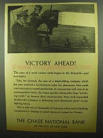 1942 Chase National Bank Ad - Victory Ahead!