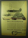 1942 Mellon National Bank Ad - Victory Assembly Lines