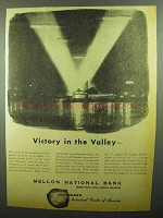 1942 Mellon National Bank Ad - Victory in the Valley