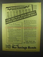 1942 War Savings Bonds Ad - Swell Treasury Honor Roll