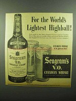 1942 Seagram's V.O. Canadian Whisky Ad - Highball