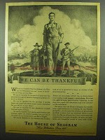 1942 The House of Seagram Ad - We Can Be Thankful