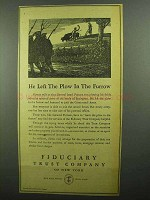 1942 Fiduciary Trust Company of New York Ad - The Plow