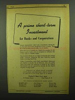 1942 Federal Intermediate Credit Banks Ad - Investment