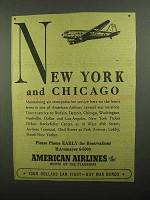 1942 American Airlines Ad - New York