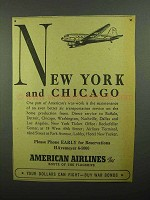1942 American Airlines Ad - Chicago