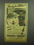 1942 Black & White Scotch Ad - Ready For Action!