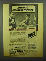 1942 Bureau of Milk Publicity Ad - Mealtime Favorite