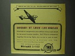 1942 TWA Airlines Ad - America Must Rule The Air