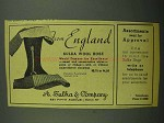 1942 A. Sulka Wool Hose Ad - From England