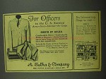 1942 A. Sulka Shirts Ad - For Officers in U.S. Service