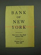1942 Bank of New York Ad