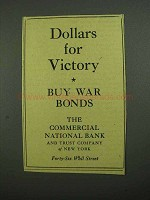 1942 The Commercial National Bank and Trust Company Ad - Victory