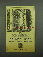 1942 The Commercial National Bank and Trust Company Ad