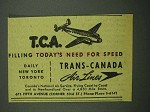 1942 Trans-Canada Air Lines Ad - Need for Speed