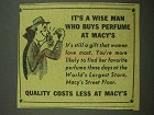 1942 Macy's Department Store Ad - Wise Man Buys Perfume