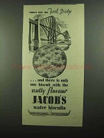 1939 Jacob's Water Biscuits Ad - One Fourth Bridge