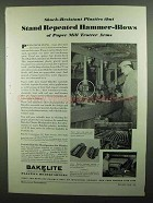 1939 Bakelite Plastics Ad - Stand Repeated Hammer-Blows